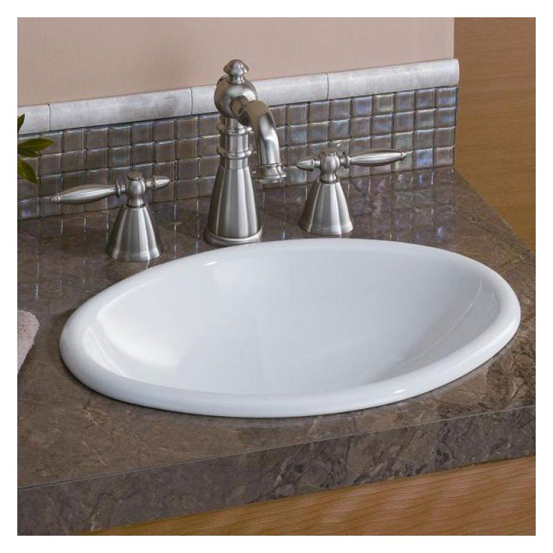 Mini Oval 17 Inch Drop-In Basin Sink