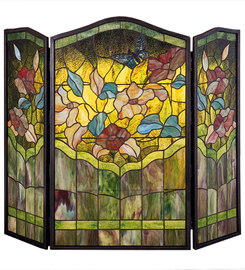 Stained Glass Fireplace Screens