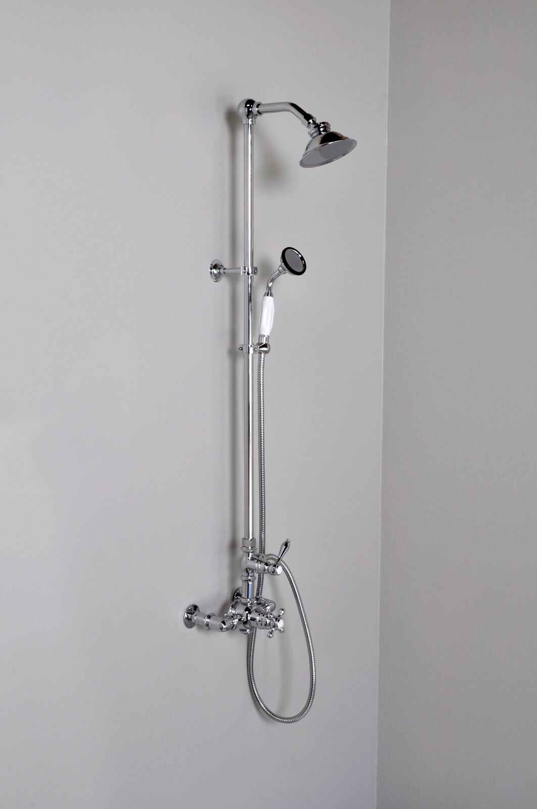Thermostatic Exposed Wall Mount Shower Set With Multi