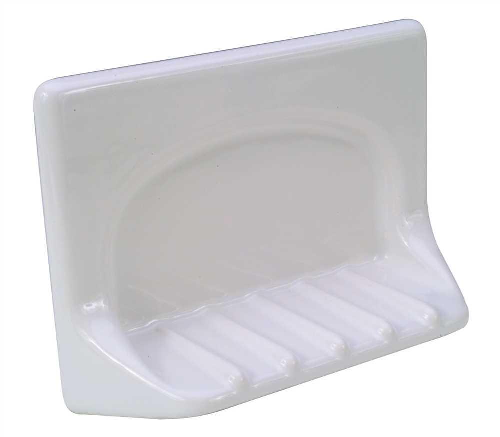 GROUT-IN CERAMIC BATHTUB SOAP DISH