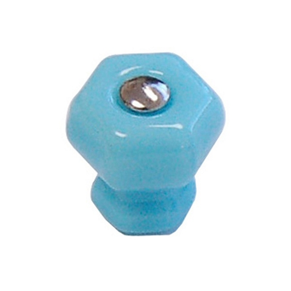 Glass Hexagonal Knobs (Multiple Colors)