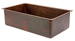 30 inch Copper Hammered Kitchen Single Basin Sink