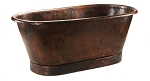 72 inch Hammered Copper Style Bathtub