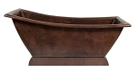 67 inch Hammered Copper Canoa Single Slipper Bathtub