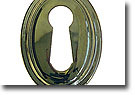 Keyhole Cover Plate Escutcheon, Vertical Oval