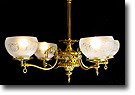 SOLD! Original Converted Gas Chandelier, 4 Light