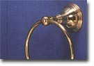 St. Lawrence Brass Towel Ring