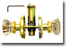 Glass Fluted Knob Passage Latch Door Set, 2.75 inch Rosette