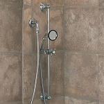 Slide Bar Shower Set with Porcelain Handheld Shower