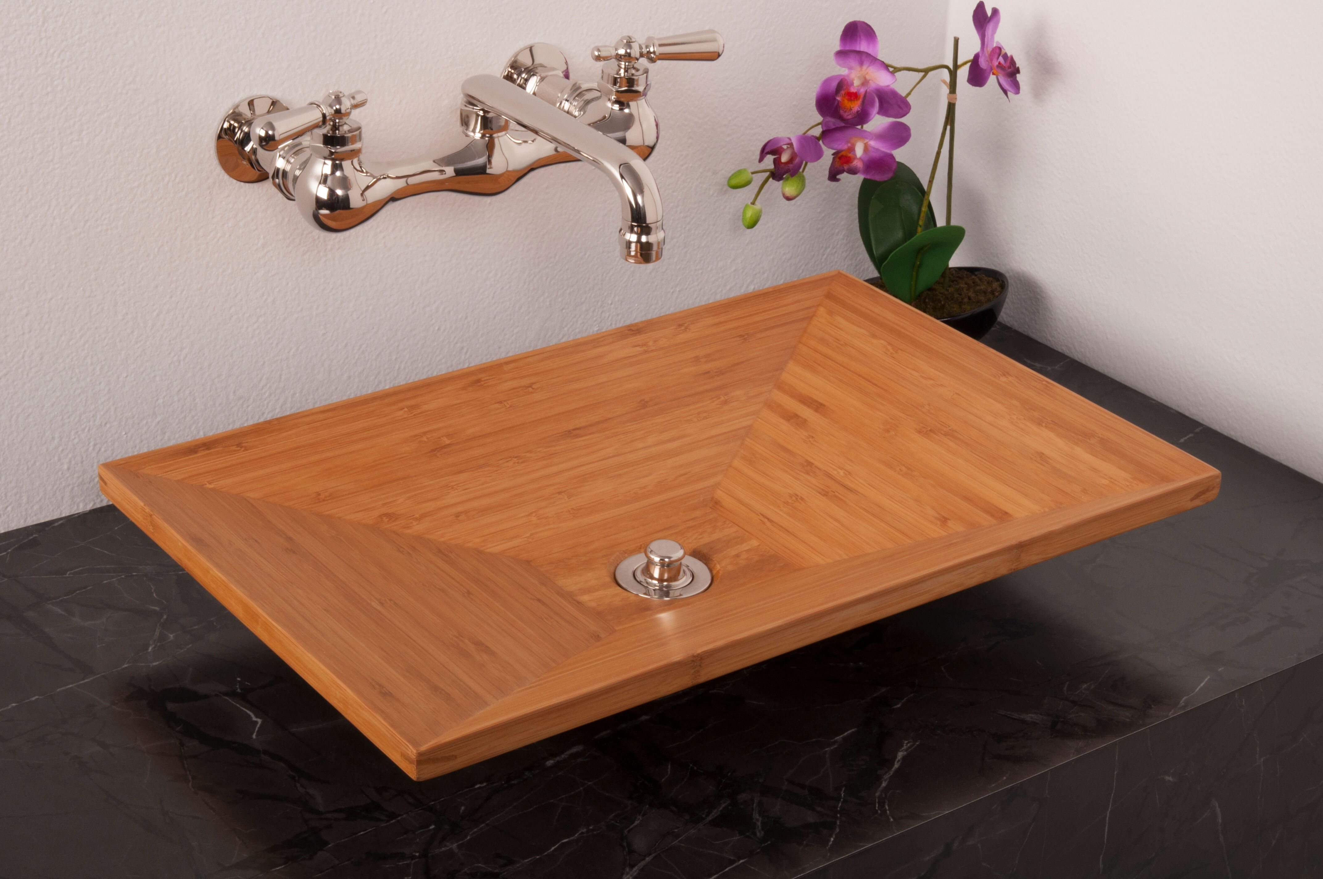 Solid Bamboo Vessel Sink