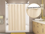 Econocord Vinyl Shower Curtain, 6 Ft X 6 Ft, Champagne