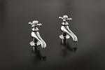 Lavatory Faucet Singles Set, Four-spoke Handles
