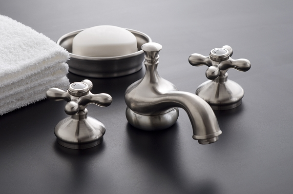 Sacramento Widespread Lavatory Faucet With Brass Cross