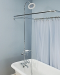 Shower Enclosure Set w/British Telephone Faucet and Brass/Porcelain Shower Head