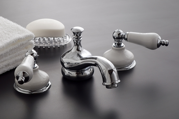 Sacramento Widespread Lavatory Faucet With Porcelain