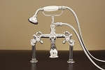 Tall Deck Mount British Telephone Leg Tub Faucet w/Variable Centers