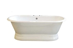 Lagoon Dual End Side Fill Pedestal Tub