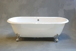 Cloud Dual-End Clawfoot Leg Tub, Non-drilled