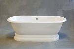 Lagoon Dual End Side Fill Pedestal Tub, Non-drilled
