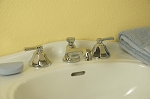 Deco Widespread  Lavatory Faucet with Lever Handles