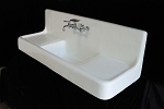 Cast Iron Farmhouse Drainboard Sink (No Legs)