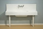 Porcelain / Cast Iron Farmhouse Drainboad Sink with Legs