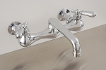 Madeira Wall Mount Kitchen Faucet w/ 6 inch Straight Spout and Lever Handles