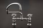 American Kitchen Faucet w/ Pot Filler Spout and Cross Point Handles