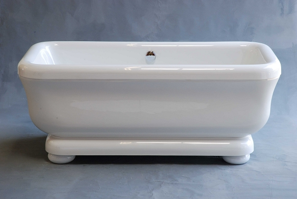 Acrylic Tub With Pedestal On Legs Quot Windmere Quot 70 Inch Non