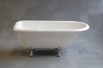 Geneva 5-foot Cast Iron Clawfoot Leg Tub, Non-drilled