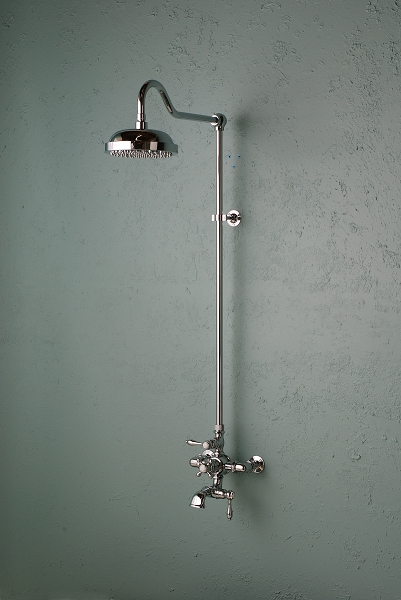 Wall Mountthermostatic Shower Set With Tub Filler Toe Tester