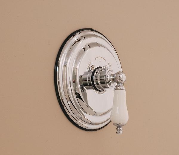 Thermostatic Faucet Control Valve Round Plate Porcelain