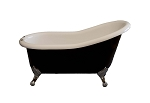 Tuxedo Acrylic Slipper Leg Tub - 5 Foot, DRILLED