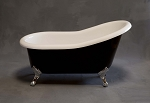Tuxedo Acrylic Slipper Leg Tub - 5 Foot, UNDRILLED