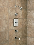 Thermostatic In-wall Tub and Shower Set