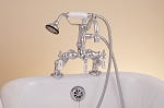 Deck Mount Faucet w/ Handheld Shower
