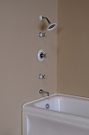 In-Wall Porcelain Thermostatic Tub & Shower Set
