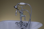 Thermostatic Leg Tub Faucet with Handheld Shower