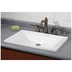 Estoril Drop-In Basin Sink - No Faucet Drillings