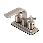 4-Inch Centerset Lavatory Faucet with Porcelain Button Crosshandles