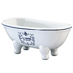 Le Savon 6″ Double Slipper Clawfoot Bath Tub Decorative Soap Dish