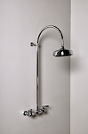 Wall Mount Exposed Gooseneck Shower Set with Lever Handles