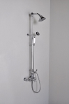 Thermostatic Exposed Wall Mount Shower set with Multi Function Diverter & Handheld Shower