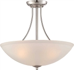 MONUMENT 3-LIGHT PENDANT FIXTURE, POLISHED CHROME