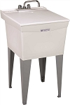 18-GALLON FLOOR-MOUNT COMBO LAUNDRY/UTILITY TUB w/ FAUCET
