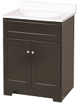FOREMOST COLUMBIA 25 INCH VANITY COMBO IN ESPRESSO