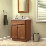 FOREMOST HEARTLAND 25 INCH VANITY COMBO IN OAK