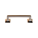 Mission Style Solid Brass Bar Handle - 3 Inch