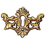 Ornate Keyhole Cover Plate Escutcheon