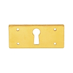 Keyhole Cover Plate Escutcheon, Rectangular Mission Style